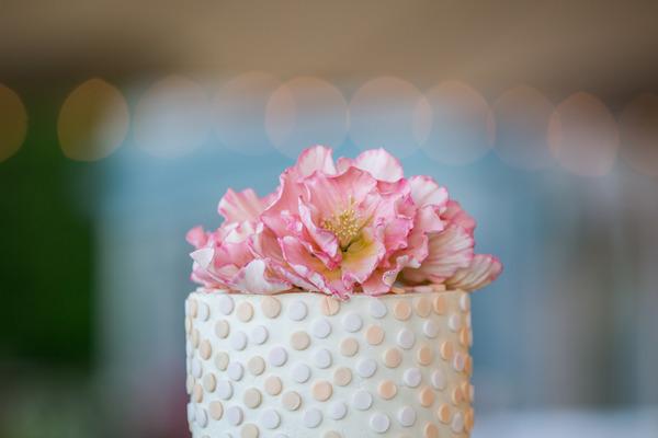 Flower wedding cake topper