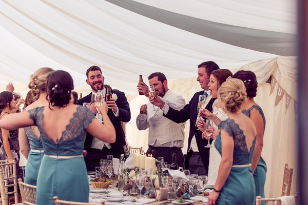 Toast at end of wedding speech