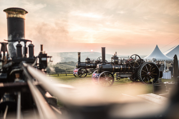 Vintage farm steam engines