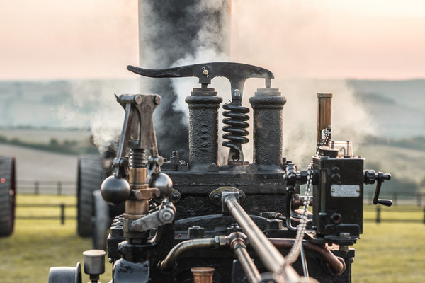 Vintage farm steam engine