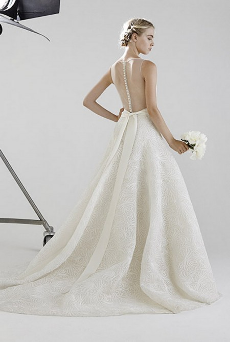 Picture of Back of Adrianne Wedding Dress - Peter Langner 2016 Bridal Collection