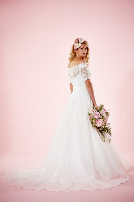Picture of Back of Alexandria Wedding Dress - Charlotte Balbier Willa Rose 2016 Bridal Collection