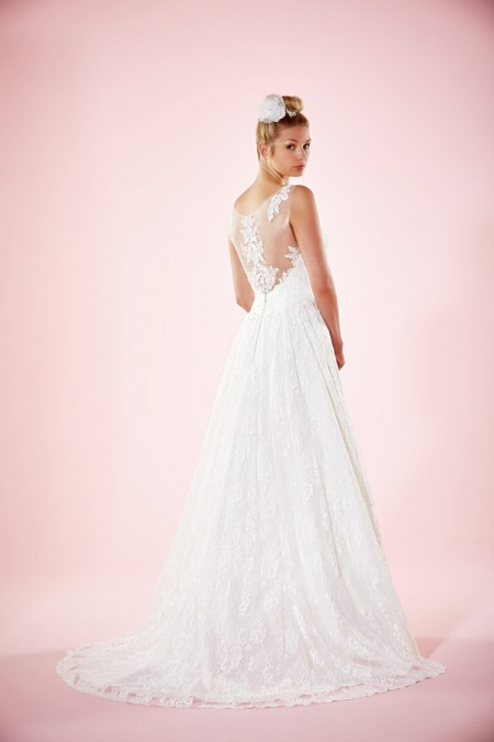 Picture of Back of Aliona Wedding Dress - Charlotte Balbier Willa Rose 2016 Bridal Collection