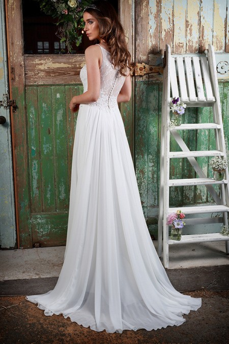 Picture of Back of Amelie Wedding Dress - Amanda Wyatt Promises of Love 2016 Bridal Collection
