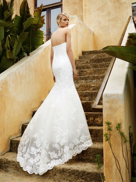 Picture of Back of BT16-06 Wedding Dress - Beautiful by Enzoani 2016 Bridal Collection