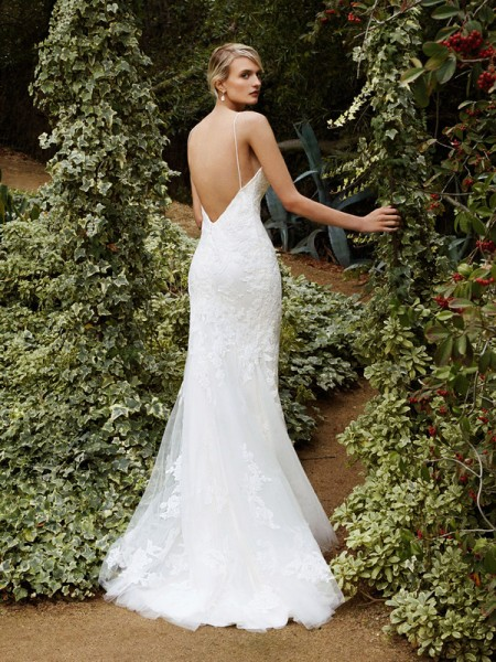 Picture of Back of BT16-08 Wedding Dress - Beautiful by Enzoani 2016 Bridal Collection