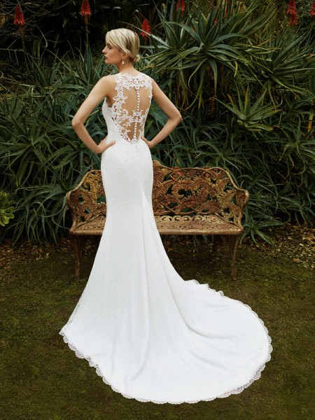 Picture of Back of BT16-09 Wedding Dress - Beautiful by Enzoani 2016 Bridal Collection