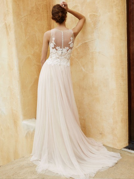 Picture of Back of BT16-12 Wedding Dress - Beautiful by Enzoani 2016 Bridal Collection