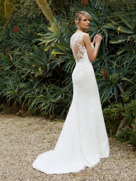 Picture of Back of BT16-15 Wedding Dress - Beautiful by Enzoani 2016 Bridal Collection