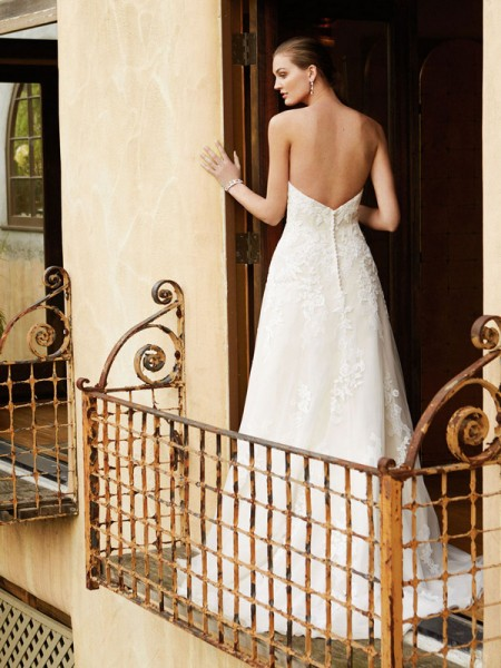 Picture of Back of BT16-19 Wedding Dress - Beautiful by Enzoani 2016 Bridal Collection