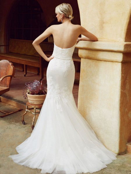 Picture of Back of BT16-21 Wedding Dress - Beautiful by Enzoani 2016 Bridal Collection