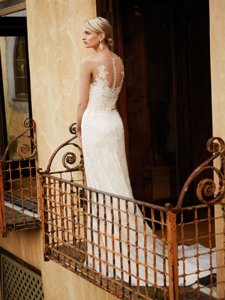 Picture of Back of BT16-22 Wedding Dress - Beautiful by Enzoani 2016 Bridal Collection