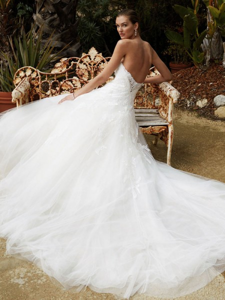Picture of Back of BT16-24 Wedding Dress - Beautiful by Enzoani 2016 Bridal Collection