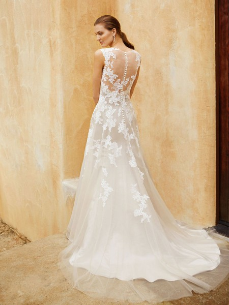Picture of Back of BT16-27 Wedding Dress - Beautiful by Enzoani 2016 Bridal Collection