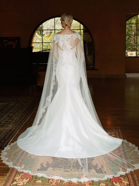 Picture of Back of BT16-29 Wedding Dress - Beautiful by Enzoani 2016 Bridal Collection
