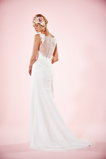 Picture of Back of Beth Wedding Dress - Charlotte Balbier Willa Rose 2016 Bridal Collection