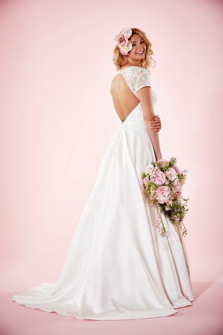 Picture of Back of Camille Wedding Dress - Charlotte Balbier Willa Rose 2016 Bridal Collection