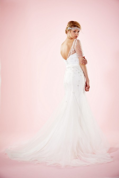 Picture of Back of Cara Wedding Dress - Charlotte Balbier Willa Rose 2016 Bridal Collection