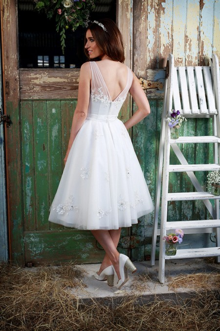 Picture of Back of Cherub Wedding Dress - Amanda Wyatt Promises of Love 2016 Bridal Collection