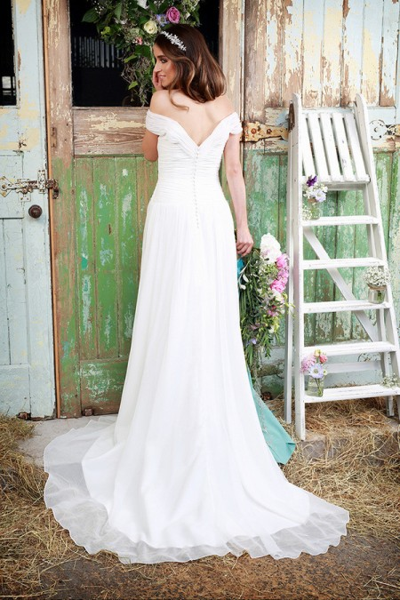 Picture of Back of Cilla Wedding Dress - Amanda Wyatt Promises of Love 2016 Bridal Collection