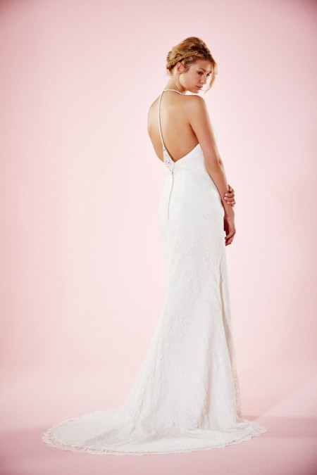 Picture of Back of Erin Wedding Dress - Charlotte Balbier Willa Rose 2016 Bridal Collection