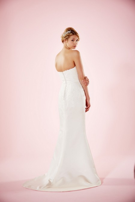 Picture of Back of Estelle Wedding Dress - Charlotte Balbier Willa Rose 2016 Bridal Collection