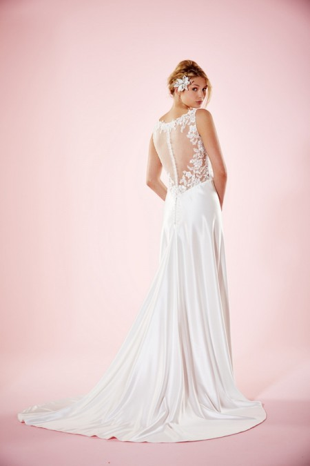 Picture of Back of Everly Wedding Dress - Charlotte Balbier Willa Rose 2016 Bridal Collection