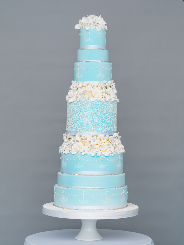 Frosted Sparkles Wedding Cake from Seasons of Sugar Collection by GC Couture