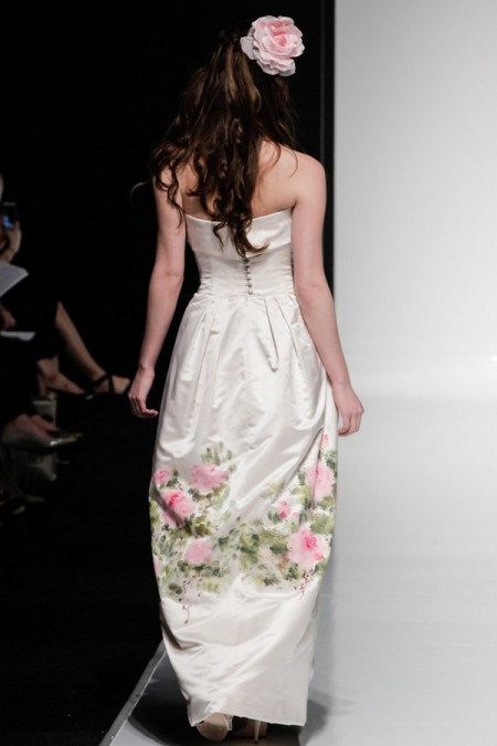 Picture of Back of Gardenia Wedding Dress - Alan Hannah Watercolours 2016 Bridal Collection
