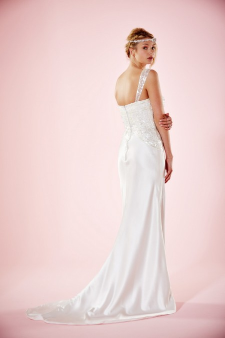 Picture of Back of Harlow Wedding Dress - Charlotte Balbier Willa Rose 2016 Bridal Collection