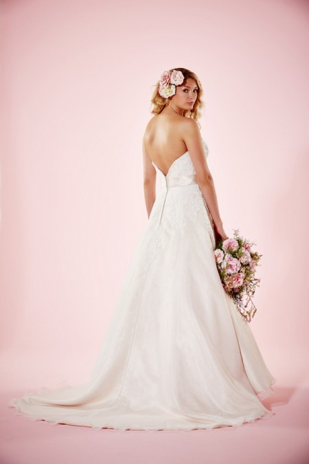 Picture of Back of Heather Wedding Dress - Charlotte Balbier Willa Rose 2016 Bridal Collection