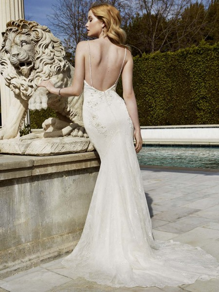 Picture of Back of Idalou Wedding Dress - Blue by Enzoani 2016 Bridal Collection