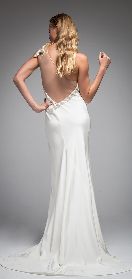 Picture of Back of Iman Wedding Dress - Sarah Janks Elan Fall 2016 Bridal Collection