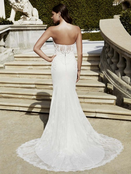 Picture of Back of Imperial Wedding Dress - Blue by Enzoani 2016 Bridal Collection