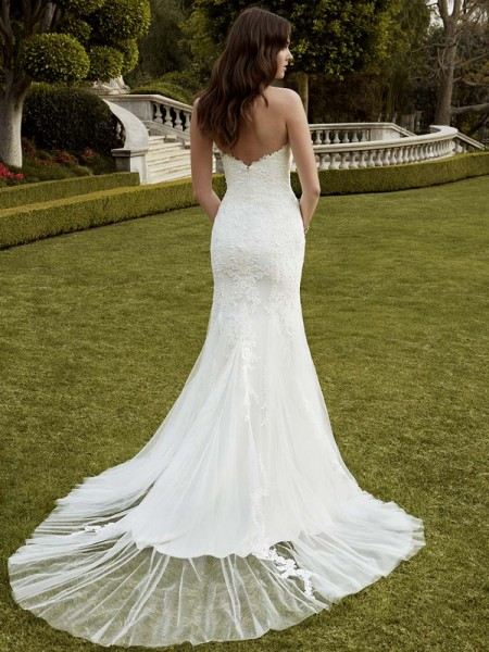 Picture of Back of Indio Wedding Dress - Blue by Enzoani 2016 Bridal Collection