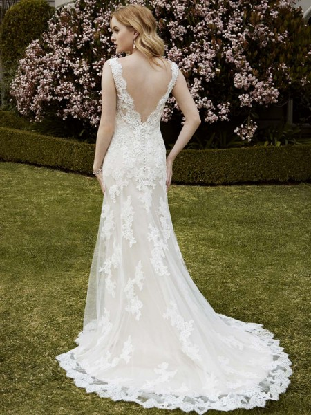 Picture of Back of Ingram Wedding Dress - Blue by Enzoani 2016 Bridal Collection