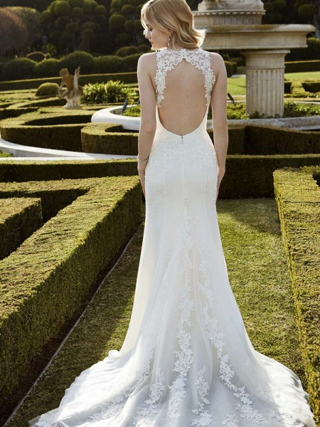Picture of Back of Ingwiller Wedding Dress - Blue by Enzoani 2016 Bridal Collection