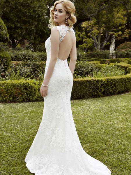 Picture of Back of Inverness Wedding Dress - Blue by Enzoani 2016 Bridal Collection