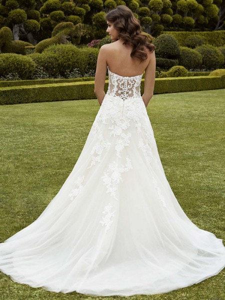 Picture of Back of Ipswich Wedding Dress - Blue by Enzoani 2016 Bridal Collection