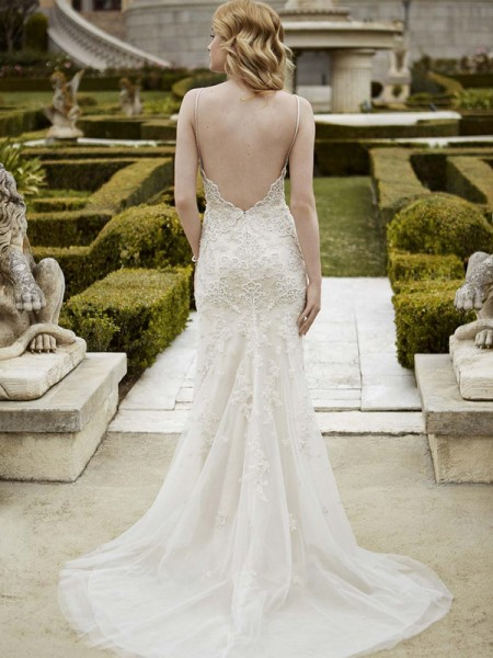 Picture of Back of Irma Wedding Dress - Blue by Enzoani 2016 Bridal Collection