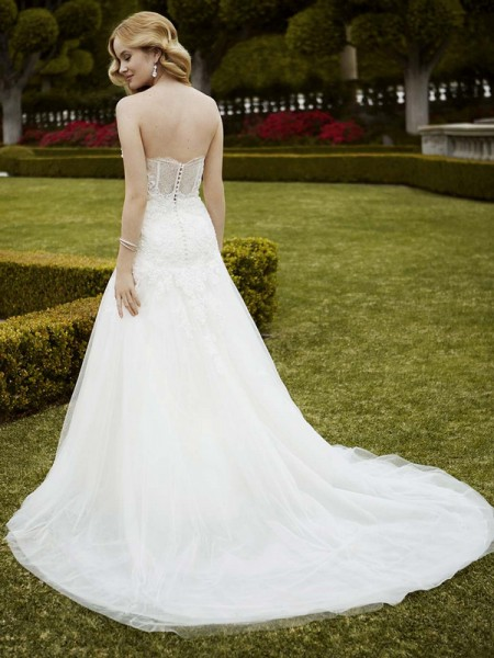 Picture of Back of Irondale Wedding Dress - Blue by Enzoani 2016 Bridal Collection