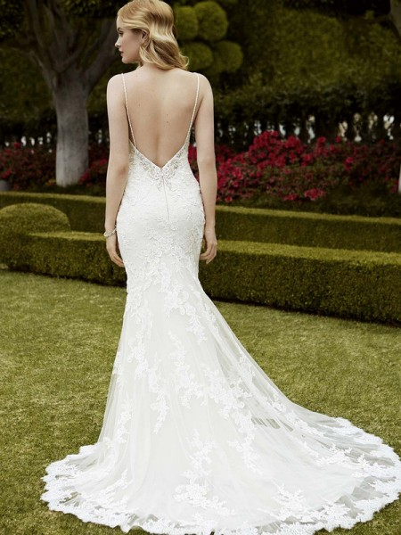 Picture of Back of Islandia Wedding Dress - Blue by Enzoani 2016 Bridal Collection