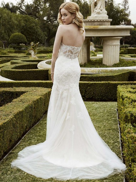 Picture of Back of Islesboro Wedding Dress - Blue by Enzoani 2016 Bridal Collection