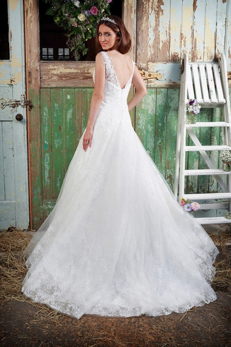 Picture of Back of Isobel Wedding Dress - Amanda Wyatt Promises of Love 2016 Bridal Collection