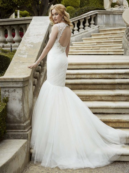 Picture of Back of Ivalo Wedding Dress - Blue by Enzoani 2016 Bridal Collection