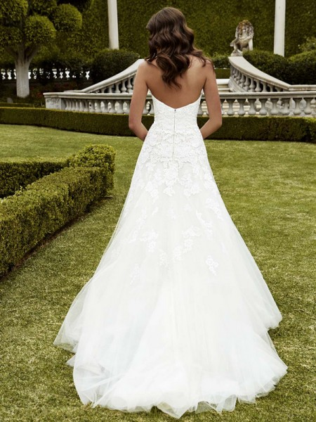 Picture of Back of Izmir Wedding Dress - Blue by Enzoani 2016 Bridal Collection