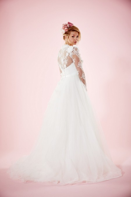 Picture of Back of Lilac Wedding Dress - Charlotte Balbier Willa Rose 2016 Bridal Collection