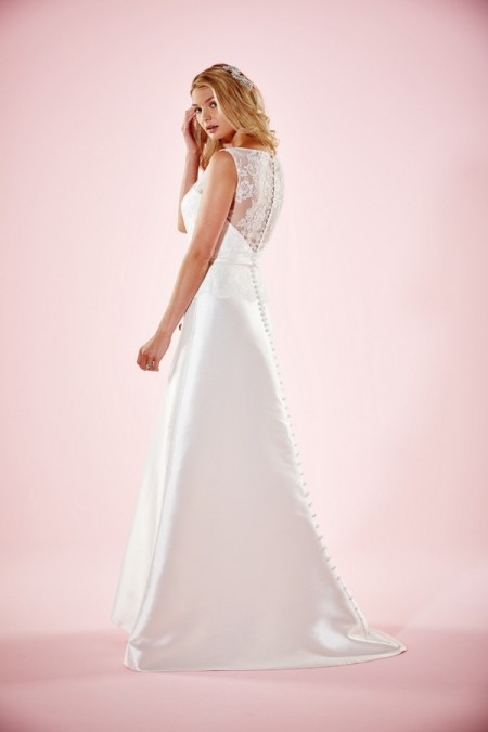 Picture of Back of Lizzie Wedding Dress - Charlotte Balbier Willa Rose 2016 Bridal Collection