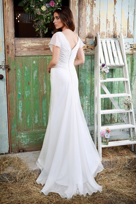 Picture of Back of Logan Wedding Dress - Amanda Wyatt Promises of Love 2016 Bridal Collection