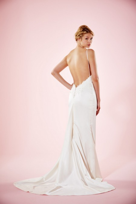 Picture of Back of Lola Wedding Dress - Charlotte Balbier Willa Rose 2016 Bridal Collection